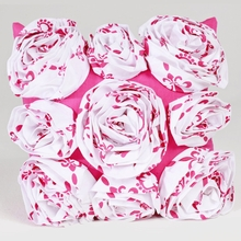 Hot Pink Roses Throw Pillow