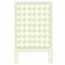 Houndstooth Ivory & Grey Headboard Wall Decal for Twin Bed