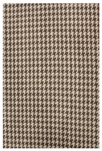 Houndstooth Jute Rug in Brown