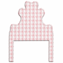 Houndstooth Pink Headboard Wall Decal for Twin Bed