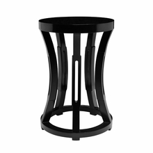 Hourglass Stool or Side Table - Black