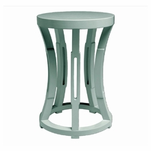 Hourglass Stool or Side Table - Light Blue
