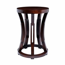 Hourglass Stool or Side Table - Mahogany
