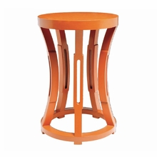 Hourglass Stool or Side Table - Orange