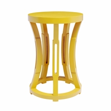Hourglass Stool or Side Table - Yellow