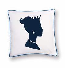 HRH the Princess Reversible Throw Pillow