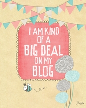 I Am Kind of A Big Deal on My Blog Canvas Wall Art