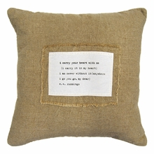 I Carry Your Heart Patch Throw Pillow