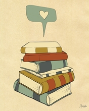 I Heart Books Canvas Wall Art