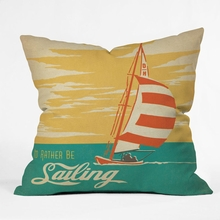I Would Rather Be Sailing Throw Pillow
