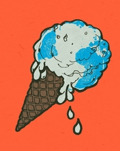 Ice Cream Warming Canvas Wall Art