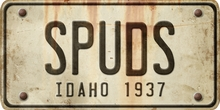 Idaho Custom License Plate Art