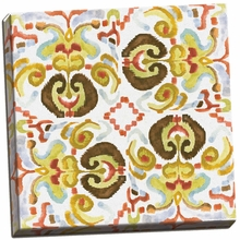 Ikat Tile II Canvas Wall Art