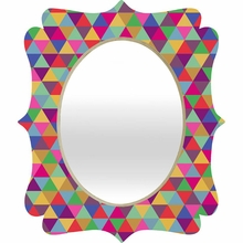 In Love With Triangles Quatrefoil Mirror
