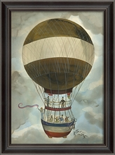 Independence Day Hot Air Balloon Framed Wall Art
