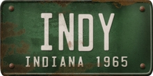 Indiana Custom License Plate Art