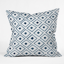 Indigo Ascot Throw Pillow