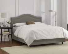 Inset Nailhead Upholstered Bed