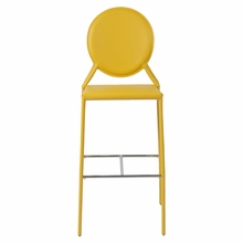 Isabella Bar Chair in Yellow Leather - Set of 2