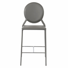 Isabella Counter Chair in Gray Leather - Set of 2