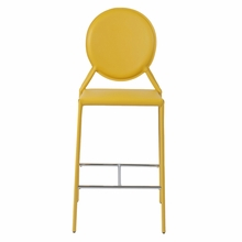 Isabella Counter Chair in Yellow Leather - Set of 2