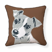 Jack Russell Reversible Throw Pillow