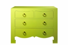 Jacqui Large 4-Drawer Chest - Green