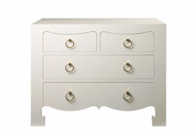 Jacqui Large 4-Drawer Chest - White