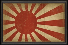 Japanese WWII Army and Navy Flag Framed Wall Art