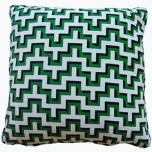 Jig Green Throw Pillow