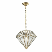 Joline Pendant In Brushed Brass