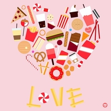 Junk Food Love Poster Wall Decal