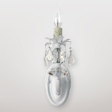 Jupiter Matte White Clear Crystal Wall Sconce
