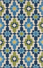 Kaleidoscope Storm Rug in Teal