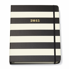 Kate Spade 2015 Black Stripe Large Agenda