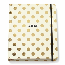 Kate Spade 2015 Gold Dots Large Agenda