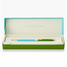 Kate Spade Green and Turquoise Ballpoint Pen