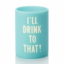 Kate Spade I'll Drink to That Turquoise Drink Cozy