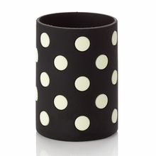 Kate Spade Le Pavilion Black and White Dots Drink Cozy