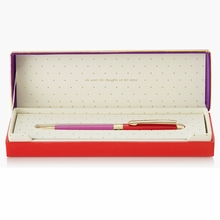 Kate Spade Red and Purple Ballpoint Pen