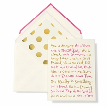Kate Spade She Is Happy Birthday Greeting Card