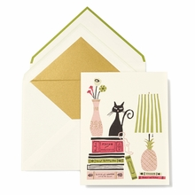 Kate Spade Stack of Classics Cat Greeting Card