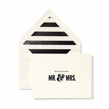 Kate Spade Thanks From the Mr. and Mrs. Bridal Note Card Set