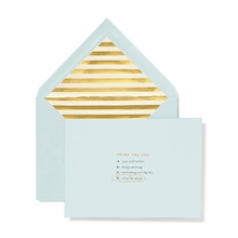 Kate Spade Turquoise All of the Above Bridal Note Card Set