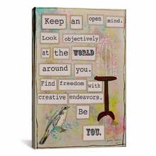 Keep an Open Mind Canvas Wall Art