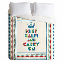 Keep Calm And Carry On Lightweight Duvet Cover