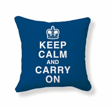 Keep Calm and Carry On Reversible Throw Pillow