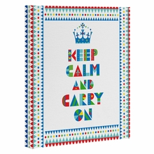 Keep Calm And Carry On Wrapped Canvas Art