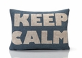 Keep Calm Recycled Felt Throw Pillow