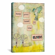 Keep Your Head In The Clouds Canvas Wall Art